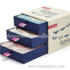 Drawer Style Paper Storage Boxes For Wine Pack China Made