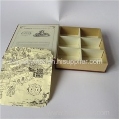 Cheap Kraft Paper Box Clamshell Gift Box For Tea Cup