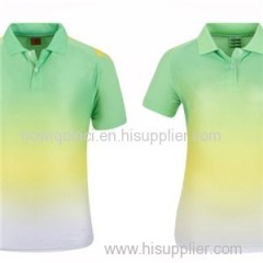 100% Polyester 140gsm Fast Dry Golf Shirt