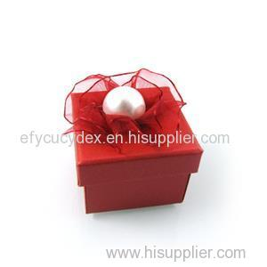 Hot Sale Red Jewelry Gift Box For Pearl Ring