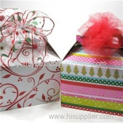 Fancy Design Colorful Printing Paper Gable Box For Gift