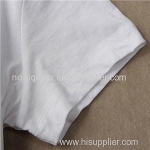 100% Cotton Crew Neck Blank Woman Tee Shirt