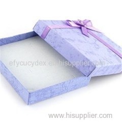 Wholesale Hard Paper Box Brooch Jewelry Gift Box With Ribbon