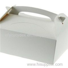 Fancy New Style Gable Recycled Handle Kraft & White Gable Gift Boxes