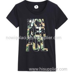 100% Cotton Ink Printing Woman Tshirt