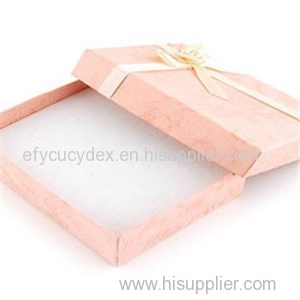 Wholesale Printed Paper Pendant Jewelry Box With Ribbon