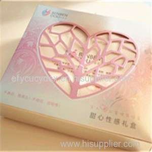 High Quality Cosmetic Bottle Gift Box With Heart Shape Window
