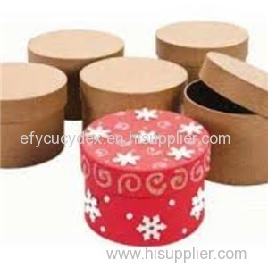 Sturdy Construction Nature Round Gift Box