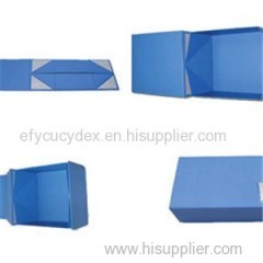 Blue Custom Collapsible Gift Box For Electronics