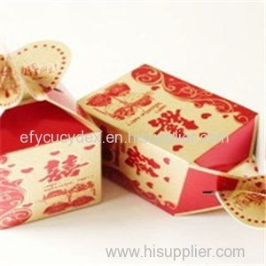 Cheap Paper Printed Wedding Candies Collapsible Gift Box
