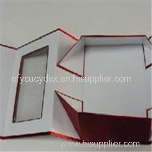 China Made Collapsible Gift Box With PVC Window