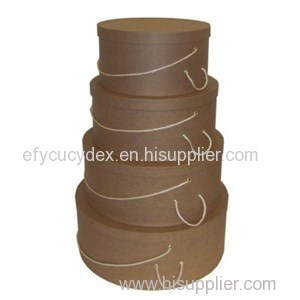 Diversified Latest Designs Brown Paperboard Round Gift Box