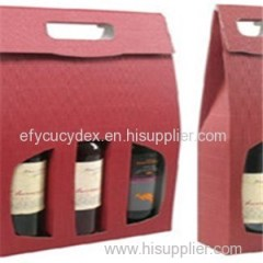 Hot Sale Bottle Gift Box With Window For Wine