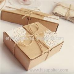 High Quality Custom Made Kraft Paper Box Square Gift Box