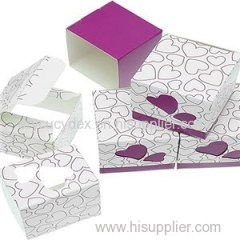 Gift Candy Box Dark Purple Wedding Party Heart Favor Laser Cut Paper