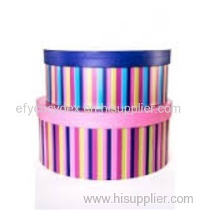 Diversified Latest Designs Printable Strips Round Gift Box