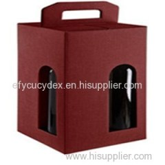 Paper Printed Square Wine Bottle Gift Box