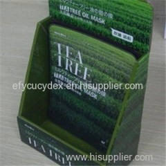 Wholesale Cheap Cosmetic Display Box For Facial Mask Used In Supermarke