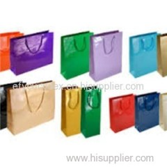 Sturdy Construction Custom Printed High Gloss Matte Paper Bag