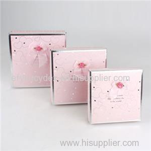 Packaging Box With Soft Touch Paper Square Gift Box Cosmetic Gift Box