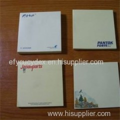 Customized Printing Content For Sticky Note With Logo