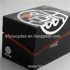 High Quantity Black Cardboard Top And Buttom Mobile Phone Box