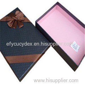 Custom High Quality Printed Paper Rectangle Gift Box Scarf Package Box
