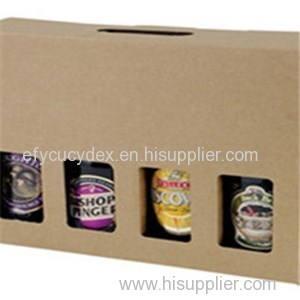 Carton Paper Bottle Gift Box With Window For Several Bottles Of Wine
