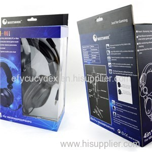 China Hot Sale Factory Price Customized Headset Package Box With PVC Window