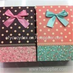 Handmade Collapsible Gift Box With Ribbon