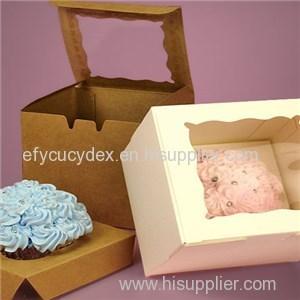 One Piece Window Cupcake Box With Insert