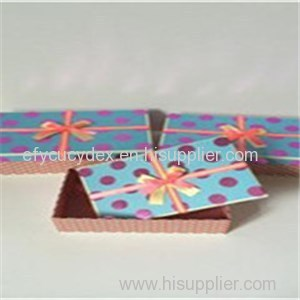 High Quality Printed Paper Rectangle Business Gift Box With Ribbon On The Cover