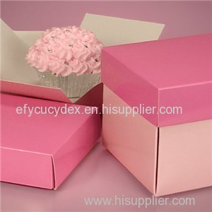 Pink Easy Removal Cupcake Boxes