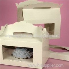 Window Gable Cupcake Boxes With Insert