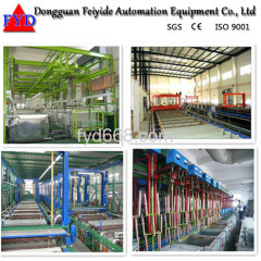 Automatic Rack Nickel Electroplating / Plating Production Line for Hinges