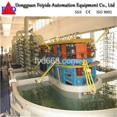 Feiyide Automatic Climbing Galvanizing Rack Plating Production Line for Zipper / Zipper Head