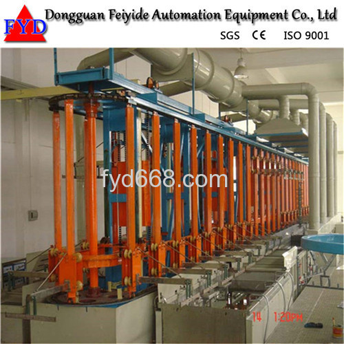 Feiyide Automatic Rack Galvanizing Plating Production Line for Zipper / Zipper Head
