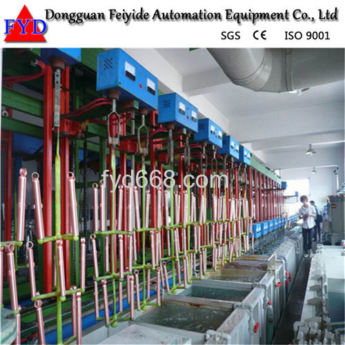Feiyide Automatic Vertical Lift Galvanizing Rack Plating Production Line for Zipper / Zipper Head