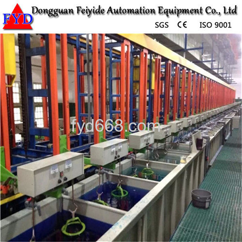 Feiyide Automatic Climbing Chrome Rack Electroplating / Plating Machine for Bathroom Accessory