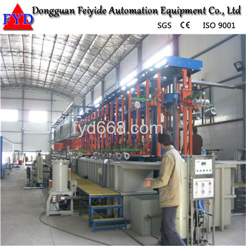 Feiyide Automatic Copper Rack Electroplating / Plating Production Line for Bathroom Accessory