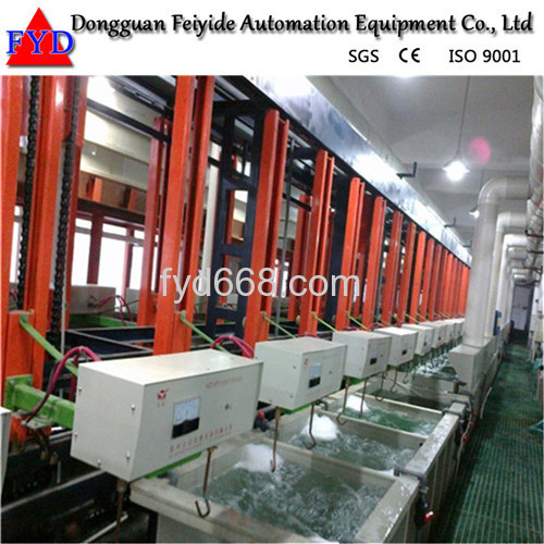 Feiyide Automatic Climbing Nickel Rack Electroplating / Plating Production Line for Bathroom Accessory