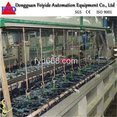 Automatic Galvanizing Rack Plating Production Line for Zipper / Zipper Head