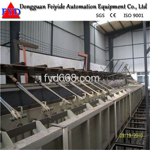 Feiyide Automatic Climbing Nickel Rack Electroplating / Plating Production Line for Metal Parts