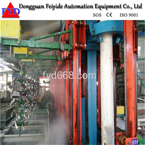 Feiyide Automatic Climbing Copper Rack Electroplating / Plating Production Line for Bathroom Accessory