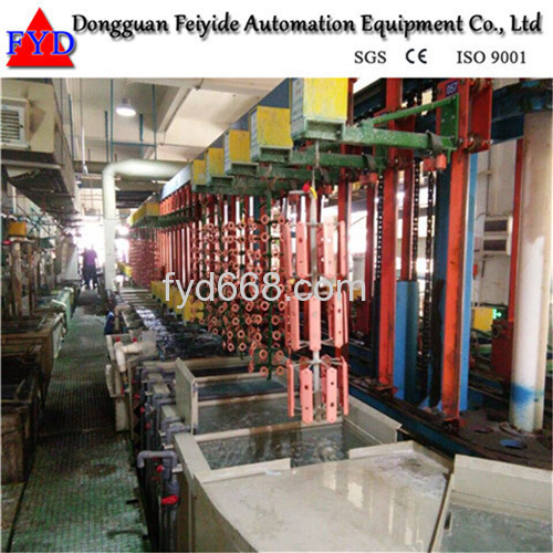 Feiyide Automatic Vertical Lift Rack Copper Electroplating / Plating Production Line for Bathroom Accessory