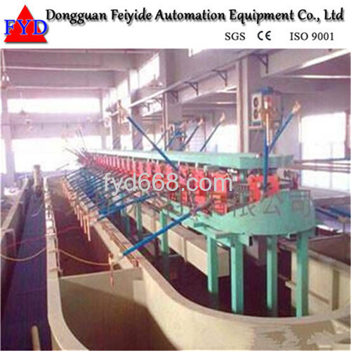 Feiyide Automatic Climbing Copper Rack Electroplating / Plating Production Line for Metal Craft