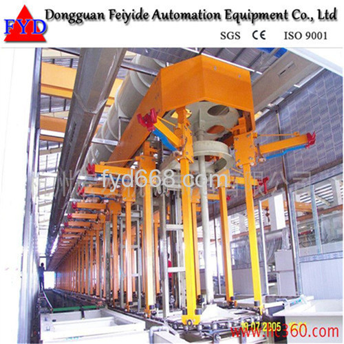 Feiyide Automatic Vertical Lift Rack Nickel Electroplating / Plating Production Line for Hinges