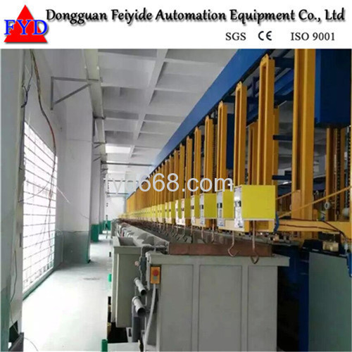 Feiyide Automatic Vertical Lift Rack Chrome Electroplating / Plating Machine for Shower Head