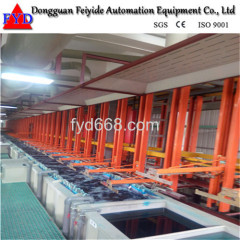Feiyide Automatic Vertical Lift Rack ABS Chrome Electroplating / Plating Production Line