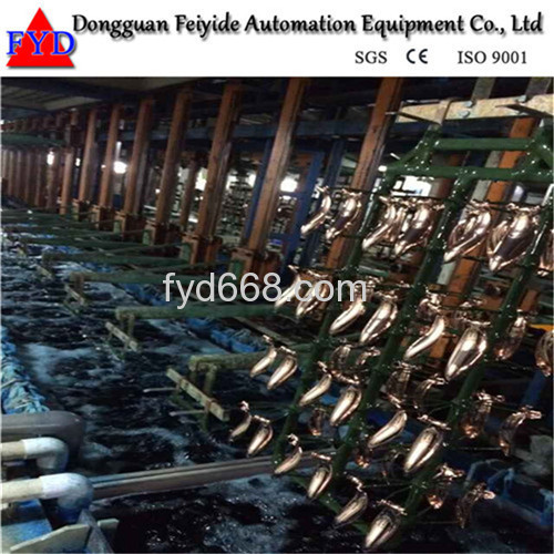 Feiyide Automatic Climbing Nickel Rack Electroplating / Plating Production Line for Fastener